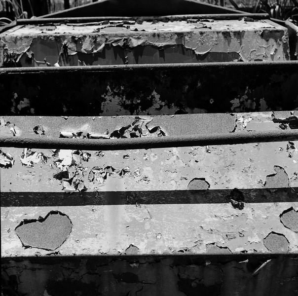 Abandoned Carnival Ride, Madison, NY. July 2005