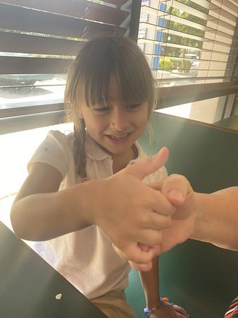 Grandgirls & K! Azalea! Tree Limb! 9.9.21