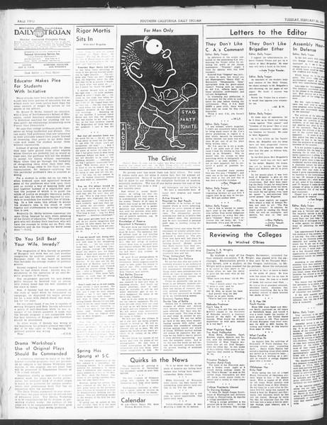 Daily Trojan, Vol. 30, No. 87, February 28, 1939