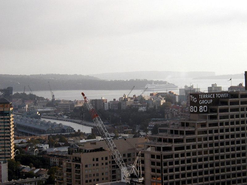 2. Cruise Ship Enters Sydney Harbor.JPG