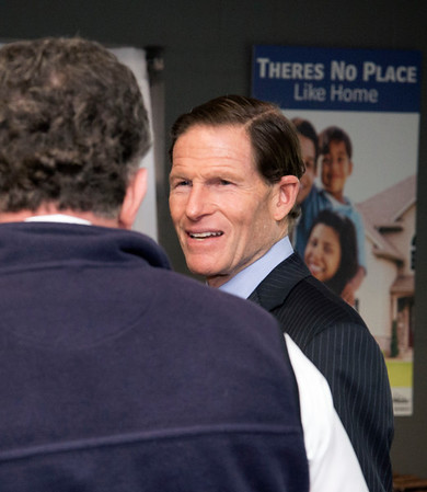 02/07/20 Wesley Bunnell | StaffrrSenator Richard Blumenthal visited Neighbor Works at 223 Arch St on Friday afternoon to announce federal grant money which has been allocated to the program. Senator Blumenthal speaks with NHS Executive Director of New Britain John W. Kakulka