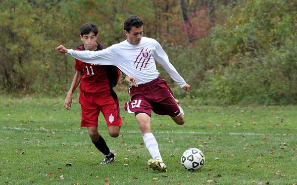 Varsity Boys Soccer vs Cromwell - 10/18/2014
