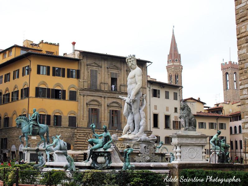 Neptune Statue Fountain