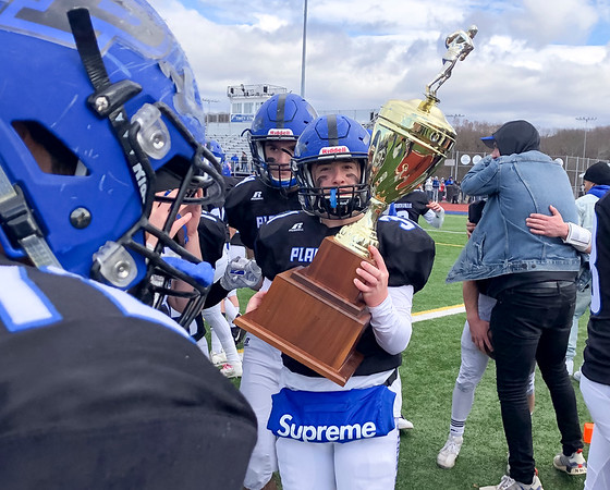 11/28/19 Wesley Bunnell | StaffrrPlainville football defeated Farmington on Thanksgiving morning at Plainville High School.