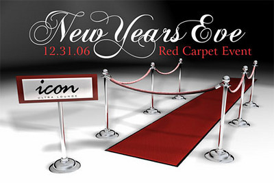 NYE Red Carpet Event @ ICON ULTRA LOUNGE SF 12.31.06