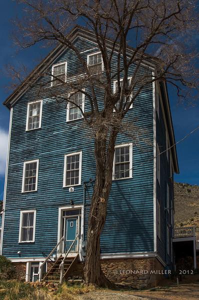 Blue House - Virginia City, Nevada