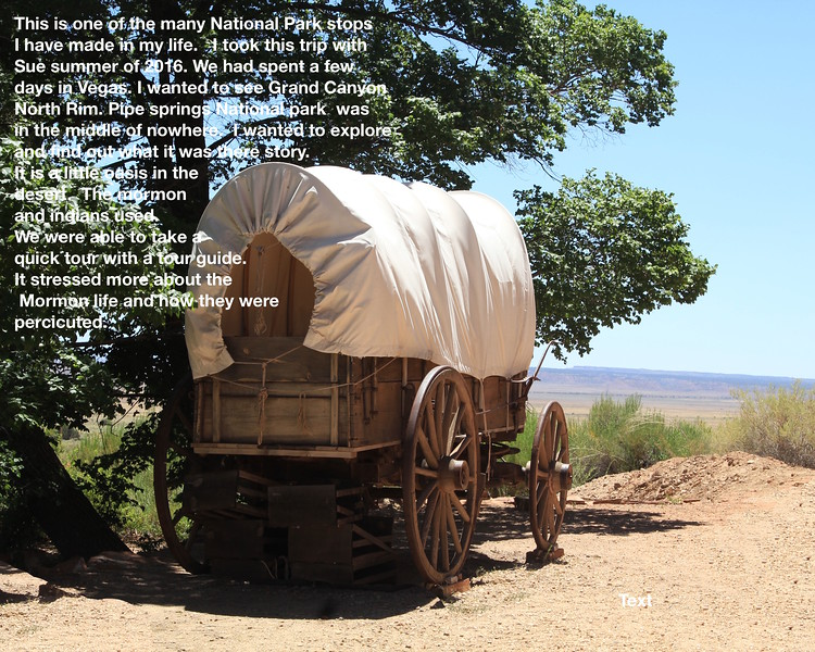 Covered wagon looking on
