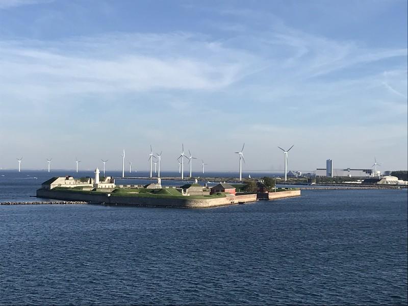 on the ferry to Oslo leaving Copenhagen