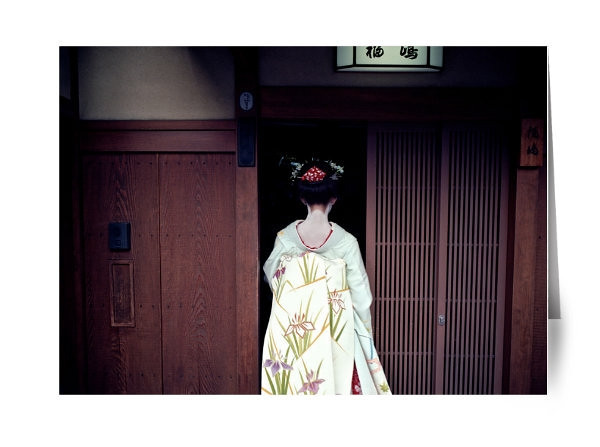 """Geisha in Gion<br /> <br /> I was in Kyoto exploring the historic Gion district.  Gion in Kyoto is one of the last places in Japan that still has an active Geisha District.   Geisha have worked in Gion for more than 300 years.   There is something beautiful and mysterious about a geisha.  They are a moving, living, breathing works of art. Graceful, elegant and playful all at the same time.  <br /> <br /> If you are lucky, you can catch a Geiko (Kyoto Japanese dialect for Geisha) and Maiko (apprentice Geikos) moving from Tea House to Tea House in the evening.<br /> <br /> Read about the rest of this day on ShootTokyo:<br />  <a href=""""http://shoottokyo.com/geisha-gion/"""">http://shoottokyo.com/geisha-gion/</a>"""