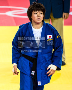 RIO DE JANEIRO, BRAZIL, AUGUST 09: Miku Tashiro of Japan lost the u63kg (light-middleweight) semi-final to Clarisse Agbegnenou of France (white) by a shido (penalty) eventually reaching fifth during day 4 of the 2016 Rio Olympic Judo on Tuesday, August 09 at the Carioca Arenas, Barra, Rio de Janeiro, Brazil. (Photo © by David Finch. All rights reserved. Including image always credited to David Finch)Clarisse Agbegnenou;Miku Tashiro