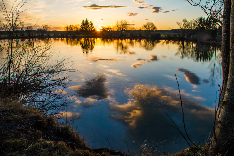 Sonnenuntergang am Allinger See