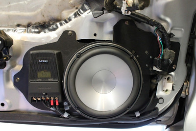 1993 Mazda RX-7 Turing Edition with Factory installed Bose sound system front speaker installation - USA