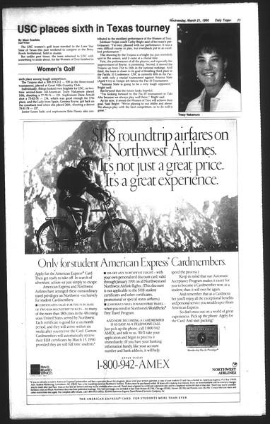 Daily Trojan, Vol. 111, No. 47, March 21, 1990