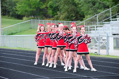 JV Cheer at the Marquette Vs. Escanaba game