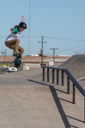 Haley at the skatepark