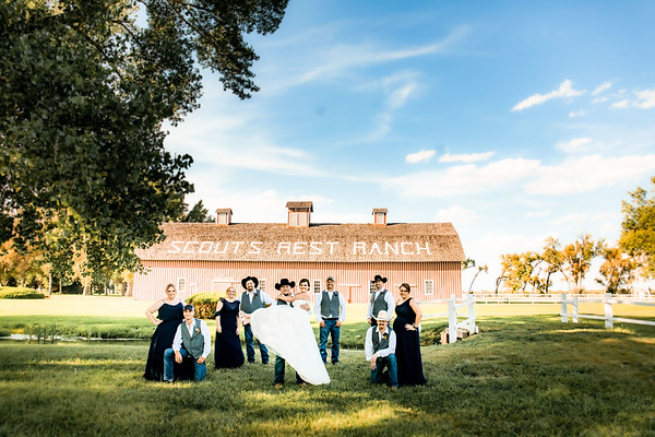 PORTRAITS // WEDDING PARTY // BUFFALO BILL RANCH