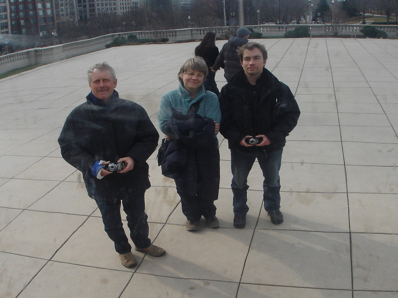 Sippe am Cloud Gate, Milennium Park