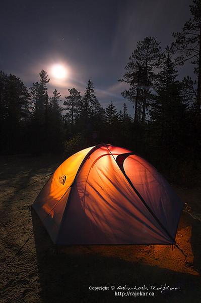 Moonrise over Parc National des Hautes Gorges de la Riviere Malbaie