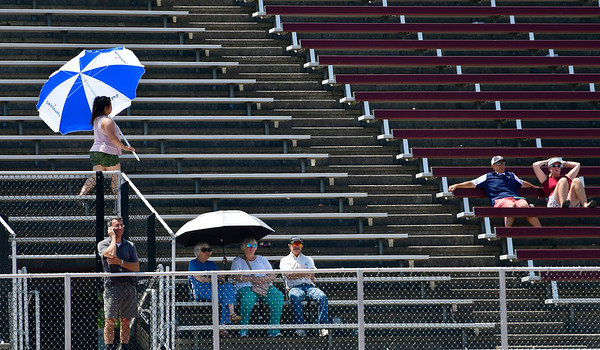 7/19/2019 Mike Orazzi | Staff Fans during the Nutmeg Games at Veterans Stadium in New Britain on Friday.
