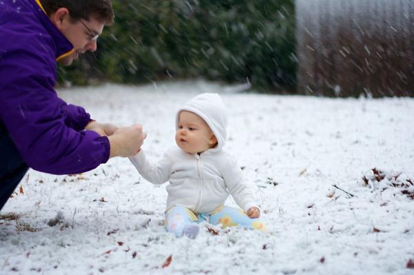 Anna's First Snow!
