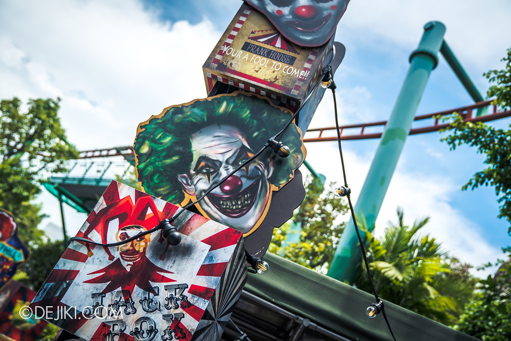 Halloween Horror Nights 7 Before Dark 1 / Happy Horror Days scare zone Circus Freakshow area Clown Tower