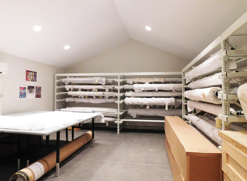 John M Walsh III Contemporary Art Quilt Collection Storage Facility - interior by Cynthia Wenslow