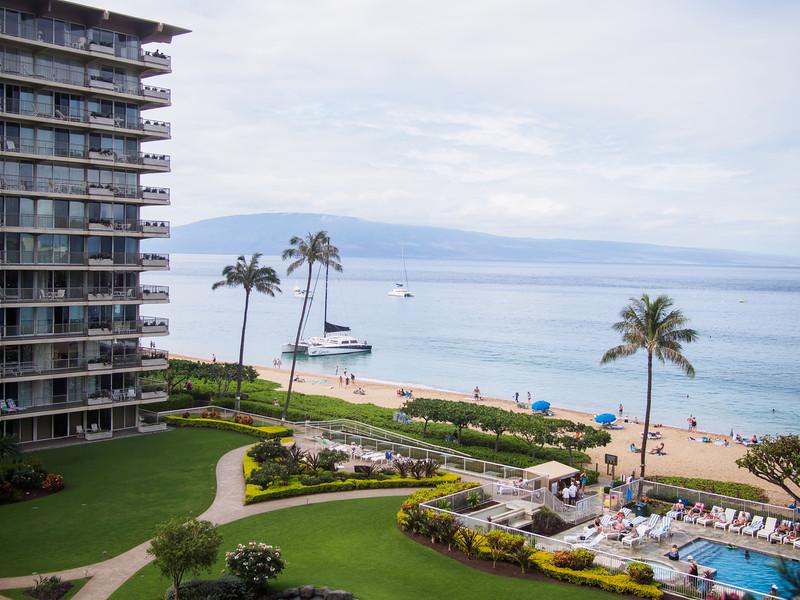 Hotel Balcony Scene, Maui
