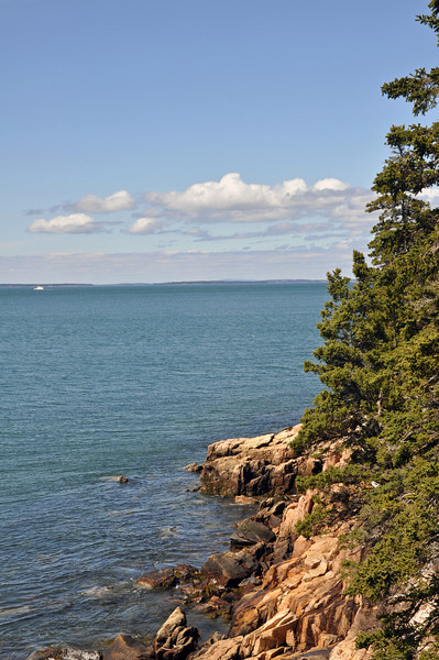 Rocky Cliff looking out from Bass Harbor Head Lighthouse.
