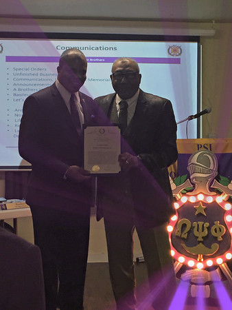 Omega Psi Phi Fraternity - Psi Alpha Chapter Certificate