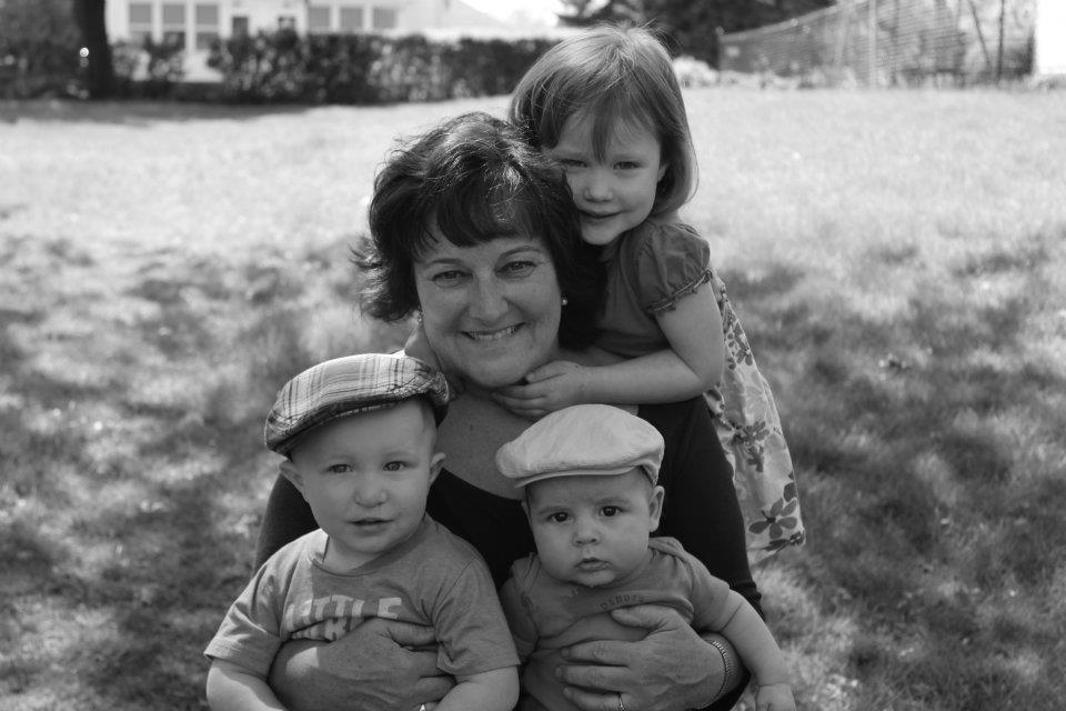Description of . Susan Koziara, along with three of her grandchildren. Karolina, Mikey, Jackson and Matthew (not pictured) think their