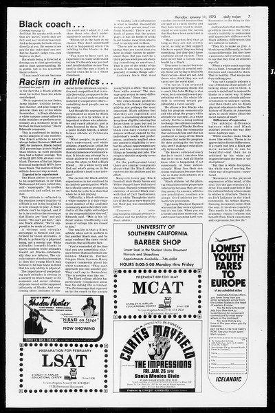 Daily Trojan, Vol. 65, No. 64, January 11, 1973