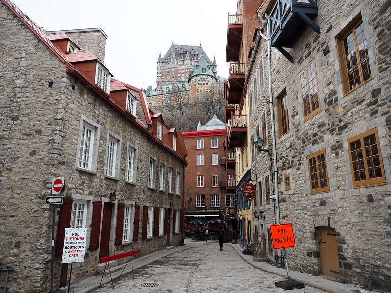 Lower town in Old Quebec City