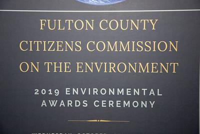Fulton County Environmental Awards, October 16, 2019