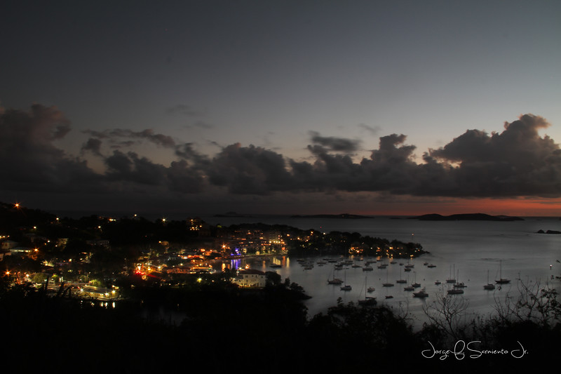 CRUZ BAY AT NIGHT