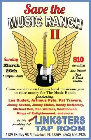 3-26-17 SAVE THE MUSIC RANCH FESTIVAL LINKSTER'S TAP ROOM LAKELAND FL