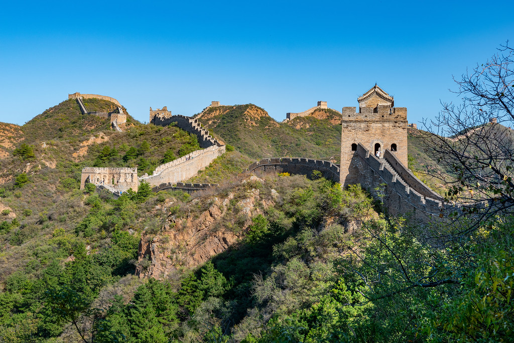 Jinshanling Great Wall view for planning