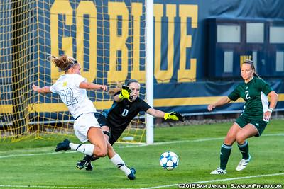 Best of UM Women's Soccer Vs EMU 8-21-15