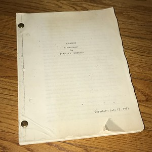 2018 1127 Dirty Harry Script and Barry Lyndon Treatment Purchase