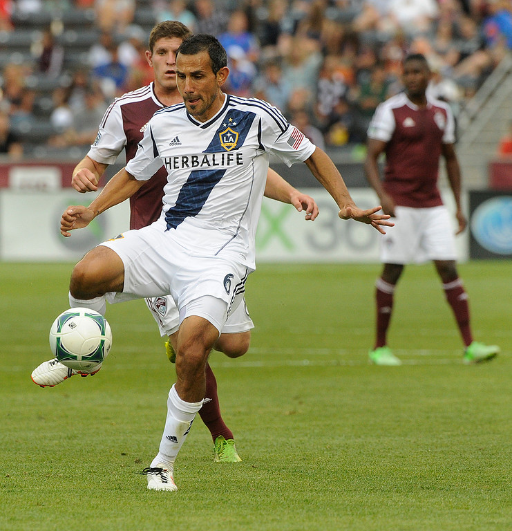 . Midfielder Pablo Mastroeni got the start for the Galaxy Saturday. The Colorado Rapids defeated the Los Angeles Galaxy 2-0 Saturday, July 27, 2013.  Photo By Karl Gehring/The Denver Post