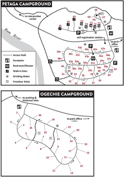 Mille Lacs Kathio State Park (Campground Maps)