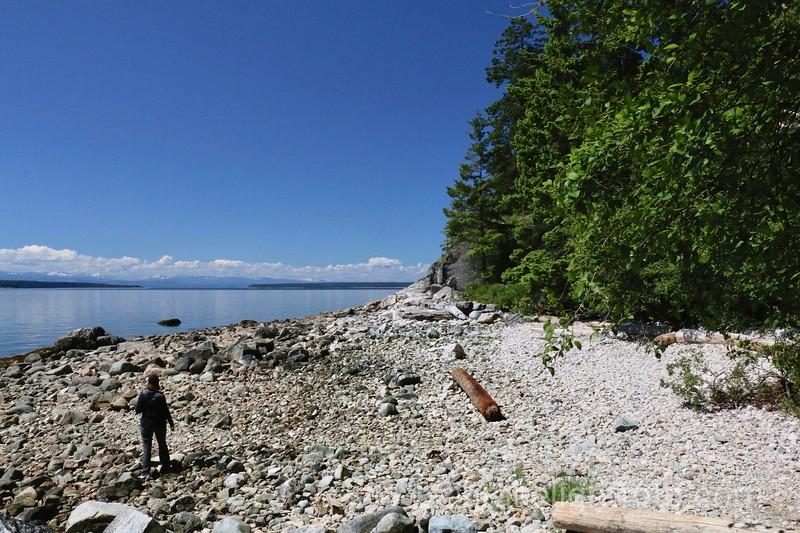 Beach at Dinner Rock Rec Site