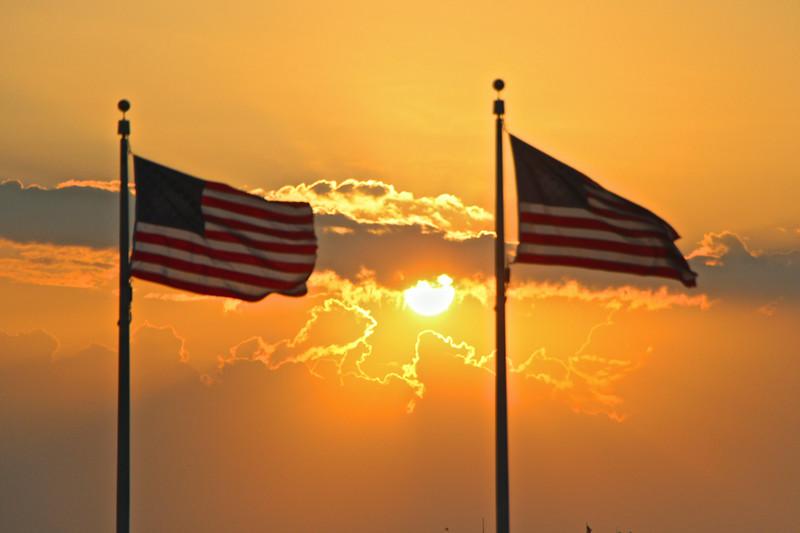 Washington Monument Sunset  549