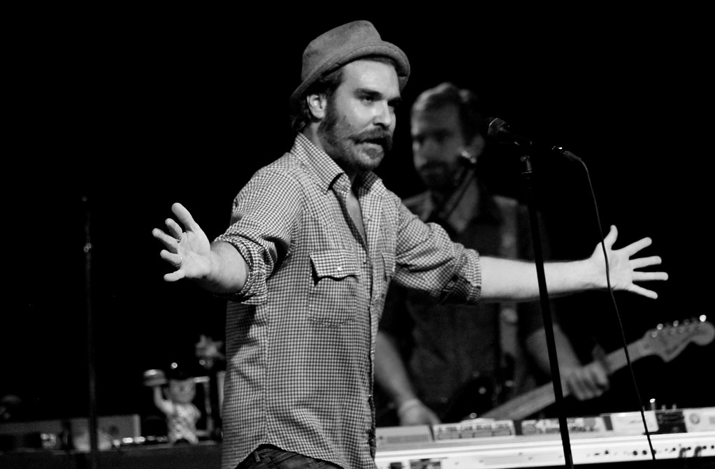 11/17/11  Scott Terry, Red Wanting Blue, Kent Stage 11/15. Huge stage presence, so fun to photograph. Wish I would have taken more of the entire band, but it was hard to take the camera off of him.  photos from the rest of the show:  http://www.gmurrayphotography.com/Photography/Concerts/Red-Wanting-Blue-Kent-Stage/  <br> Loving concert photography <br> RWB's music video: http://www.youtube.com/watch?v=6oKYlAV3hbc