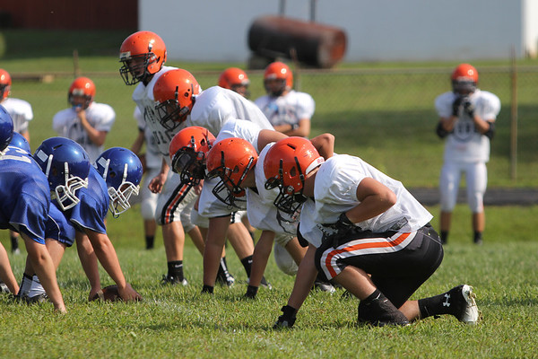 Football:  Wheelersburg Freshmen vs. Chillicothe Scrimmage 2013
