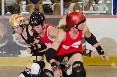 7/19/13 - Ruby Red Skates vs. Yellow Brick Road