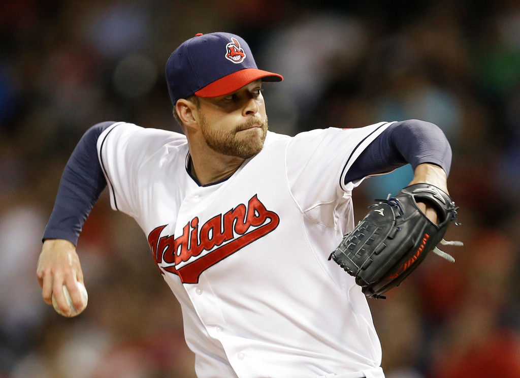 . Cleveland Indians starting pitcher Corey Kluber delivers against the Colorado Rockies in the sixth inning of a baseball game Friday, May 30, 2014, in Cleveland. (AP Photo/Mark Duncan)