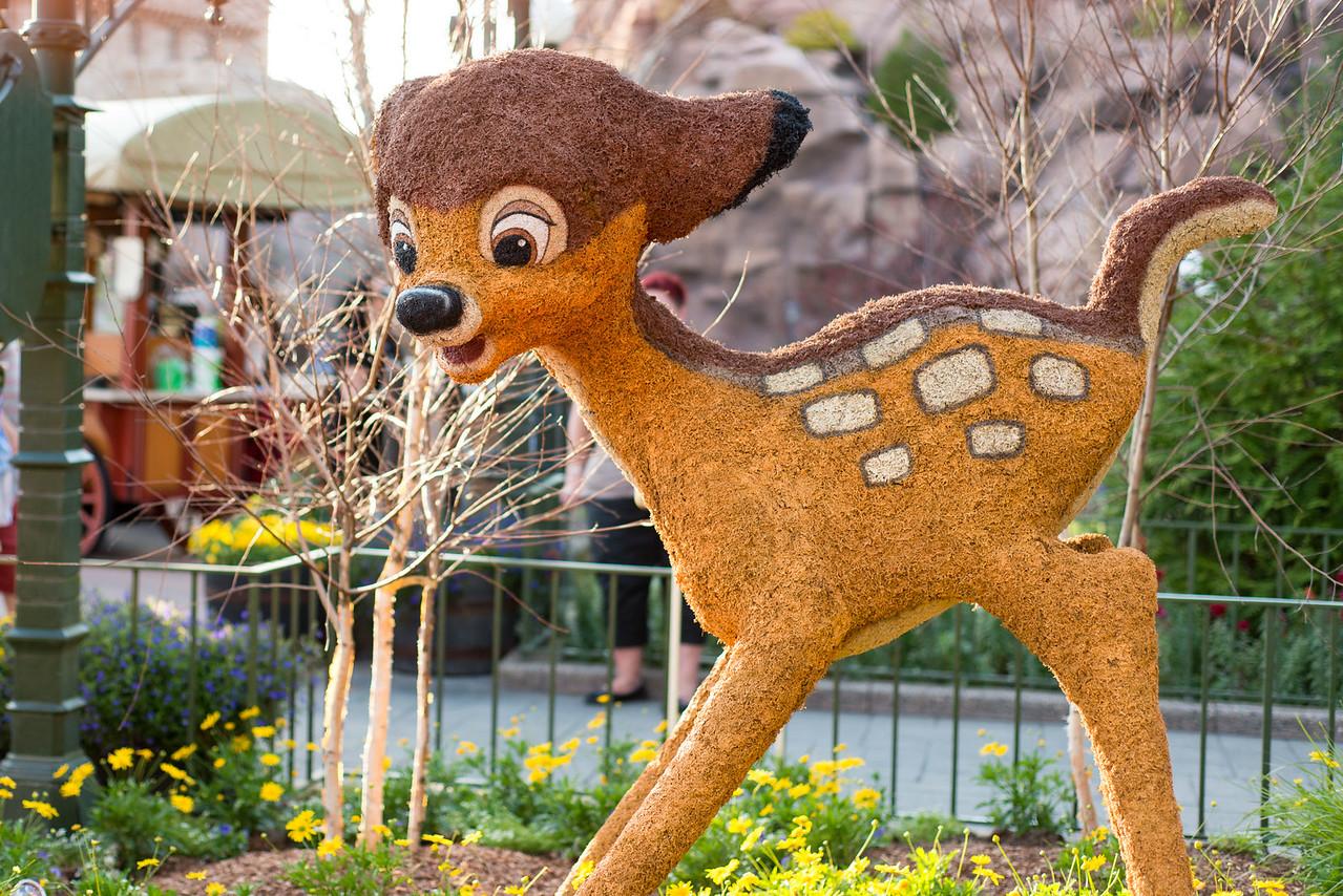 Bambi Topiary - Epcot Flower & Garden Festival 2016