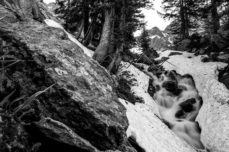 Long Exposure of Creek in Gore Range, CO