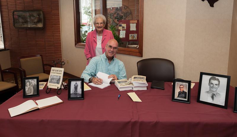 Gid Adkisson, 1st Infantry Lieutenant, Book Signing, 9-27-2013