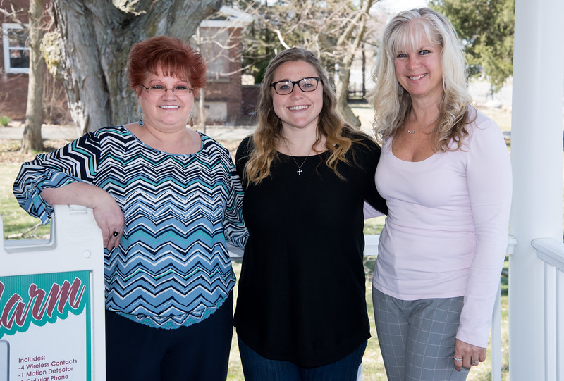 04/11/18  Wesley Bunnell | Staff  The office staff of Maximum Sound & Security at 1550 Meriden-Waterbury Turnpike in Southington.  Office Manager Christina Robertson, Office Administrator Kate Biffinger and Office Administrator Candee' Defeo.